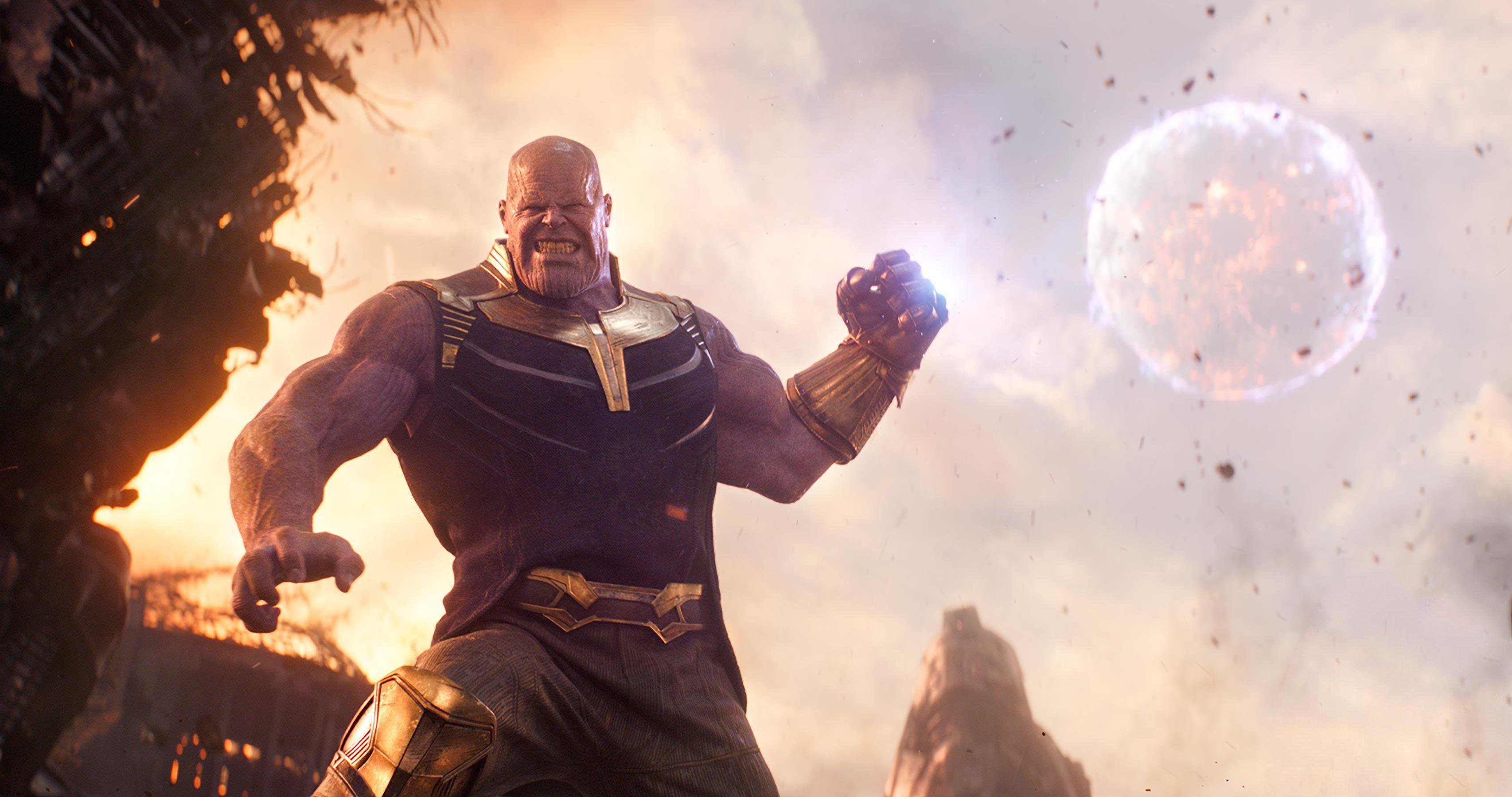 Avengers Infinity Thanos 4k Widescreen Desktop Wallpaper 922 3412x1800 Px Pickywallpapers Com