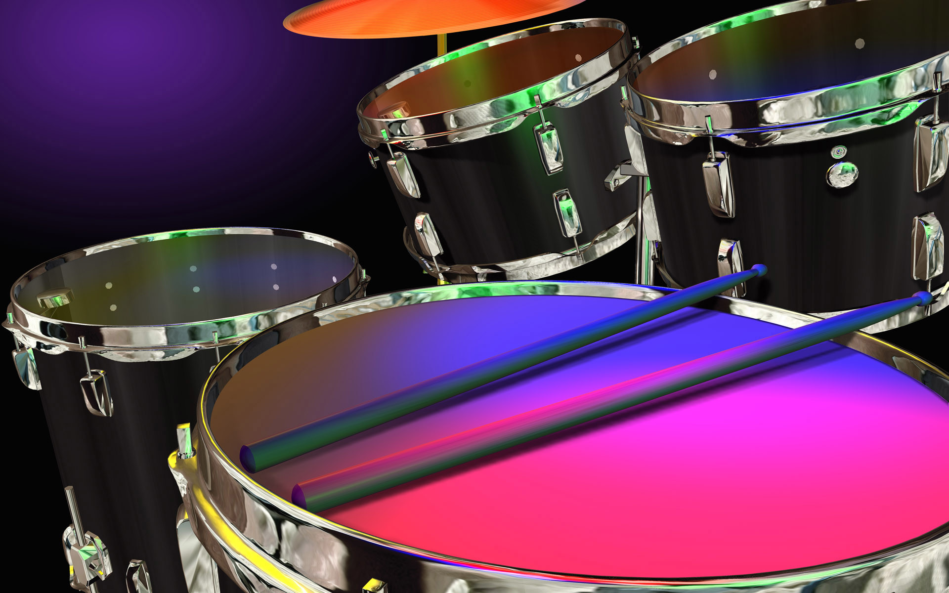 drum set widescreen computer background 1215