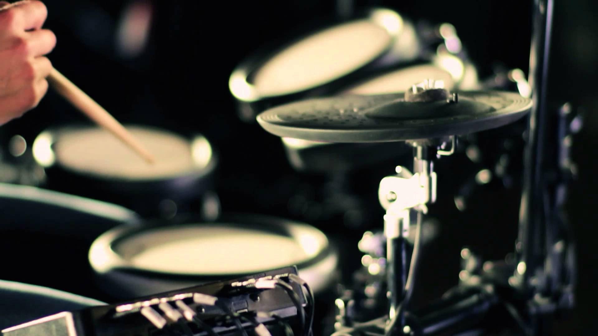 electric drum set widescreen desktop wallpaper 1220