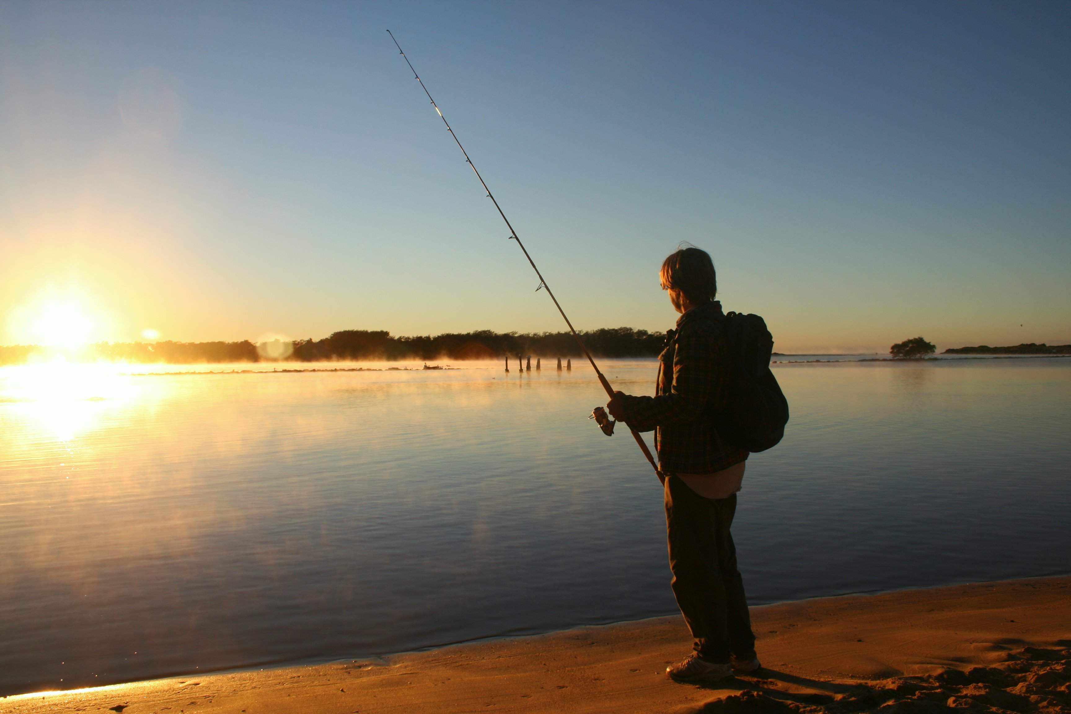 fishing sunset desktop wallpaper 690