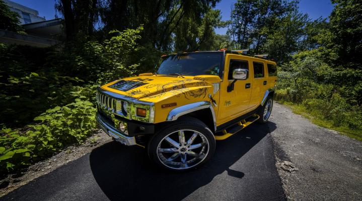 2014 Hummer H2 Yellow Widescreen Desktop Wallpaper 1204
