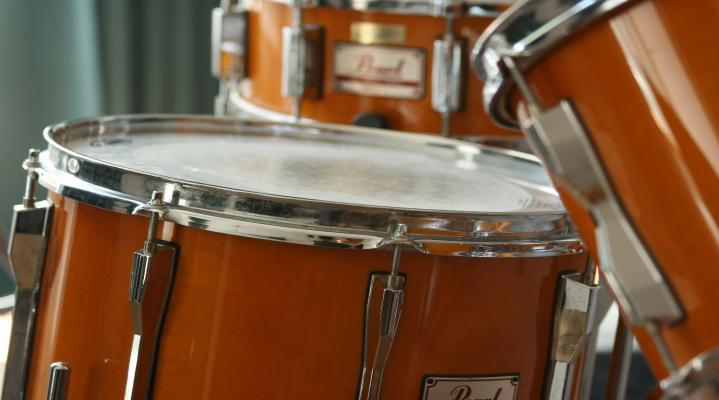Drum Set Musical Instrument Widescreen Computer Background 1218
