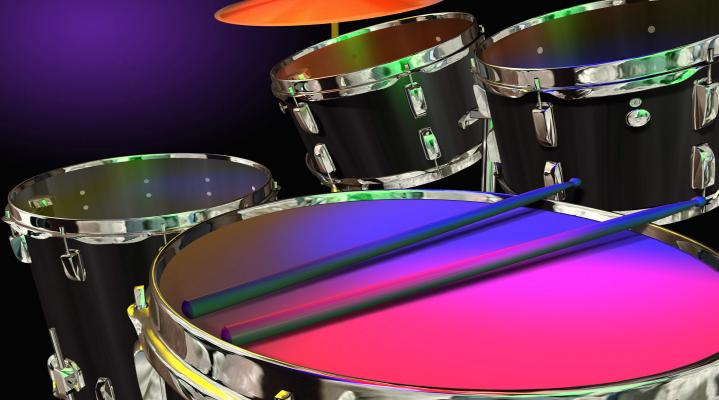 Drum Set Widescreen Computer Background 1216
