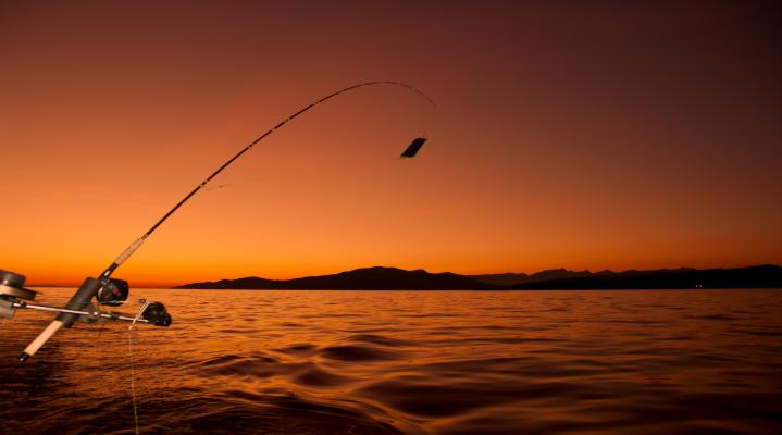 Fishing Sunset Computer Wallpaper 691