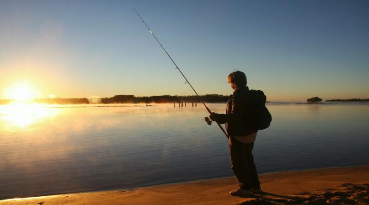 Fishing Sunset Desktop Wallpaper 690