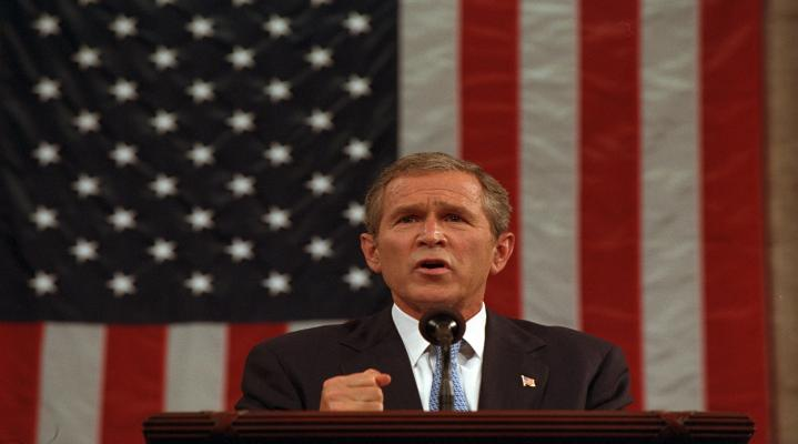 George Bush Speech 4K Widescreen Desktop Wallpaper 1996