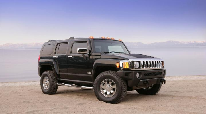 Hummer H3 Black Widescreen Desktop Wallpaper 1206