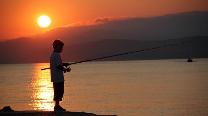 Lake Fishing Rod Computer Background 689