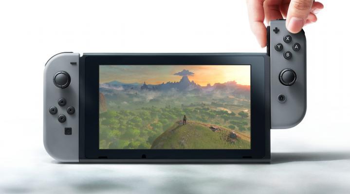 Nintendo Switch Grey Desktop Wallpaper 912