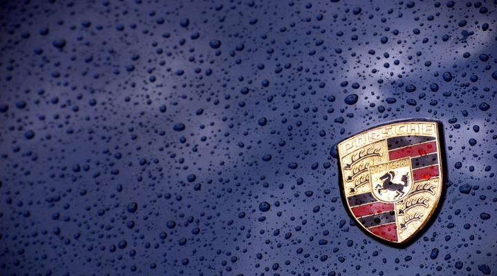 Porsche Blue Raindrop Desktop Wallpaper 937