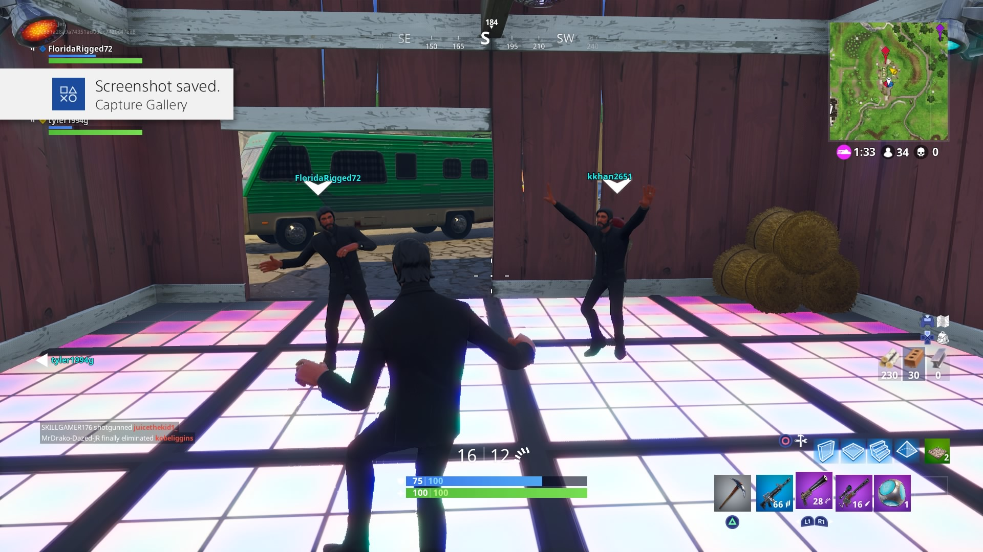 fortnite squad john wick dance computer wallpaper 808