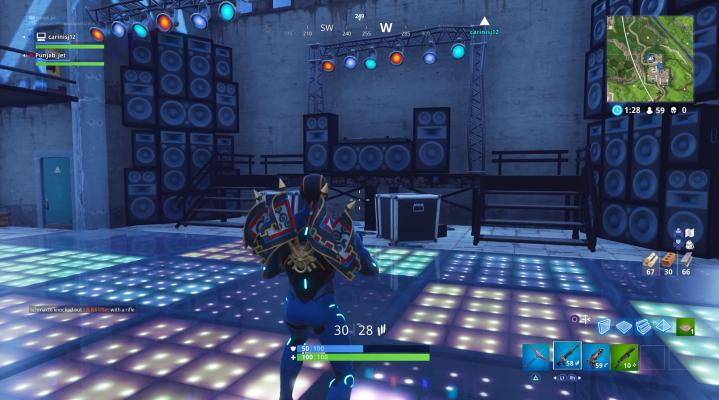 Fortnite Dance Floor Widescreen Wallpaper 516