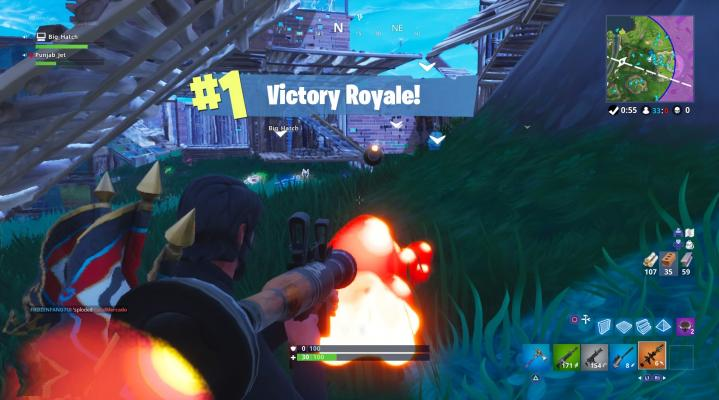 Fortnite Rocket Victory Royale Desktop Wallpaper 816
