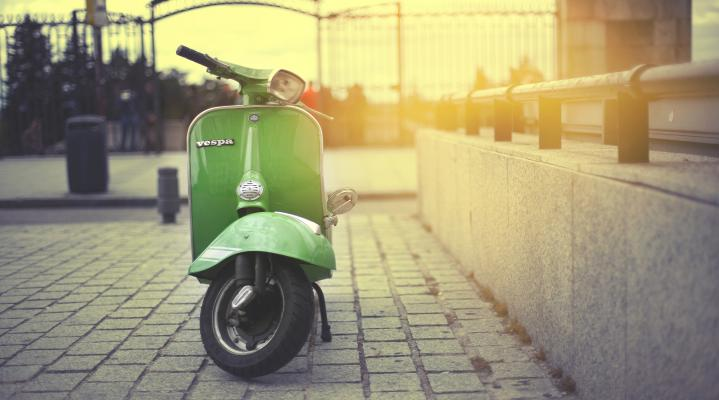 Retro Scooter Computer Background 567