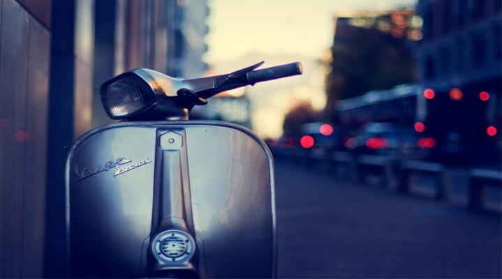 Street Scooter Widescreen Wallpaper 562