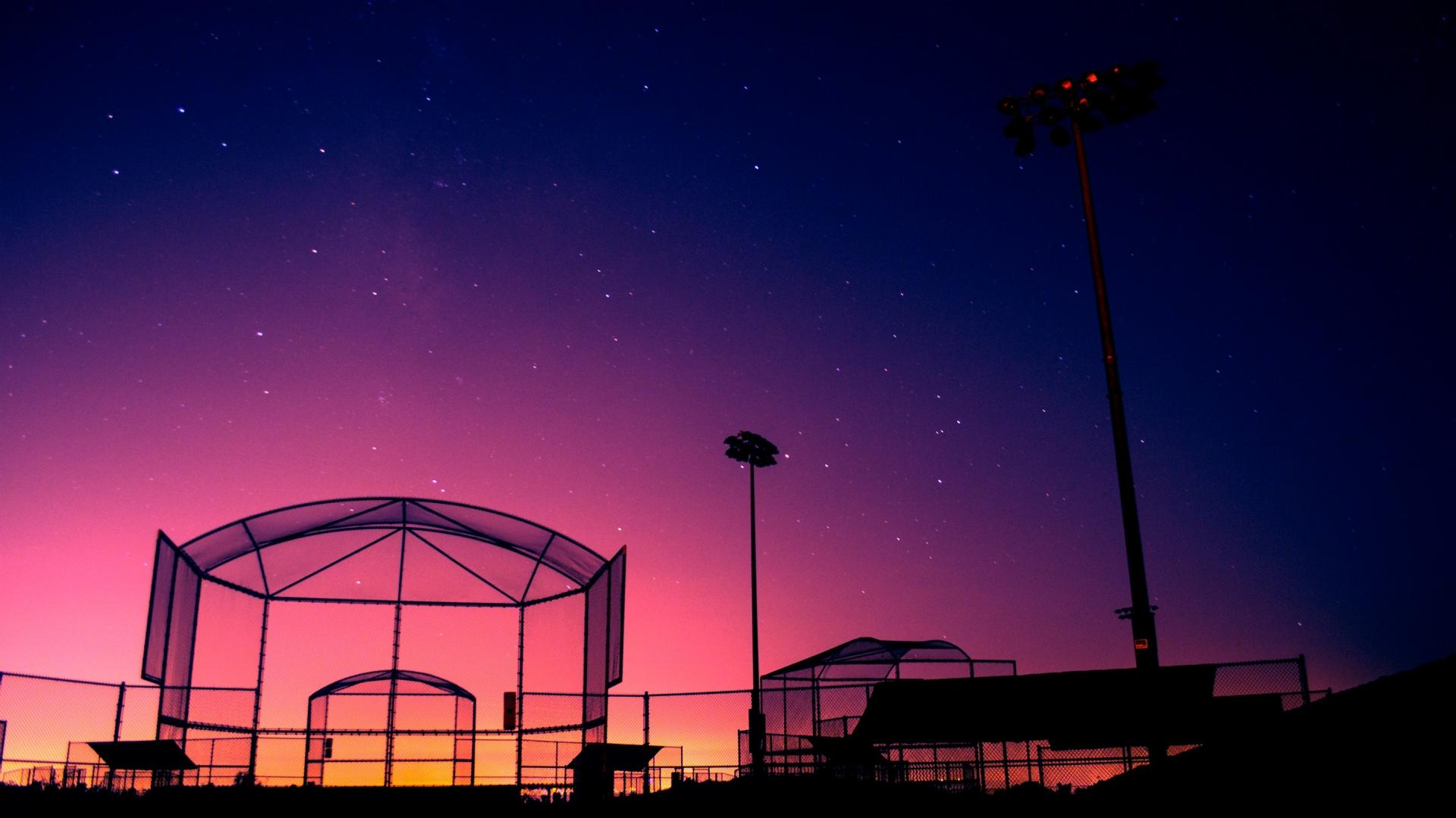 baseball field beautiful sunset wallpaper 64
