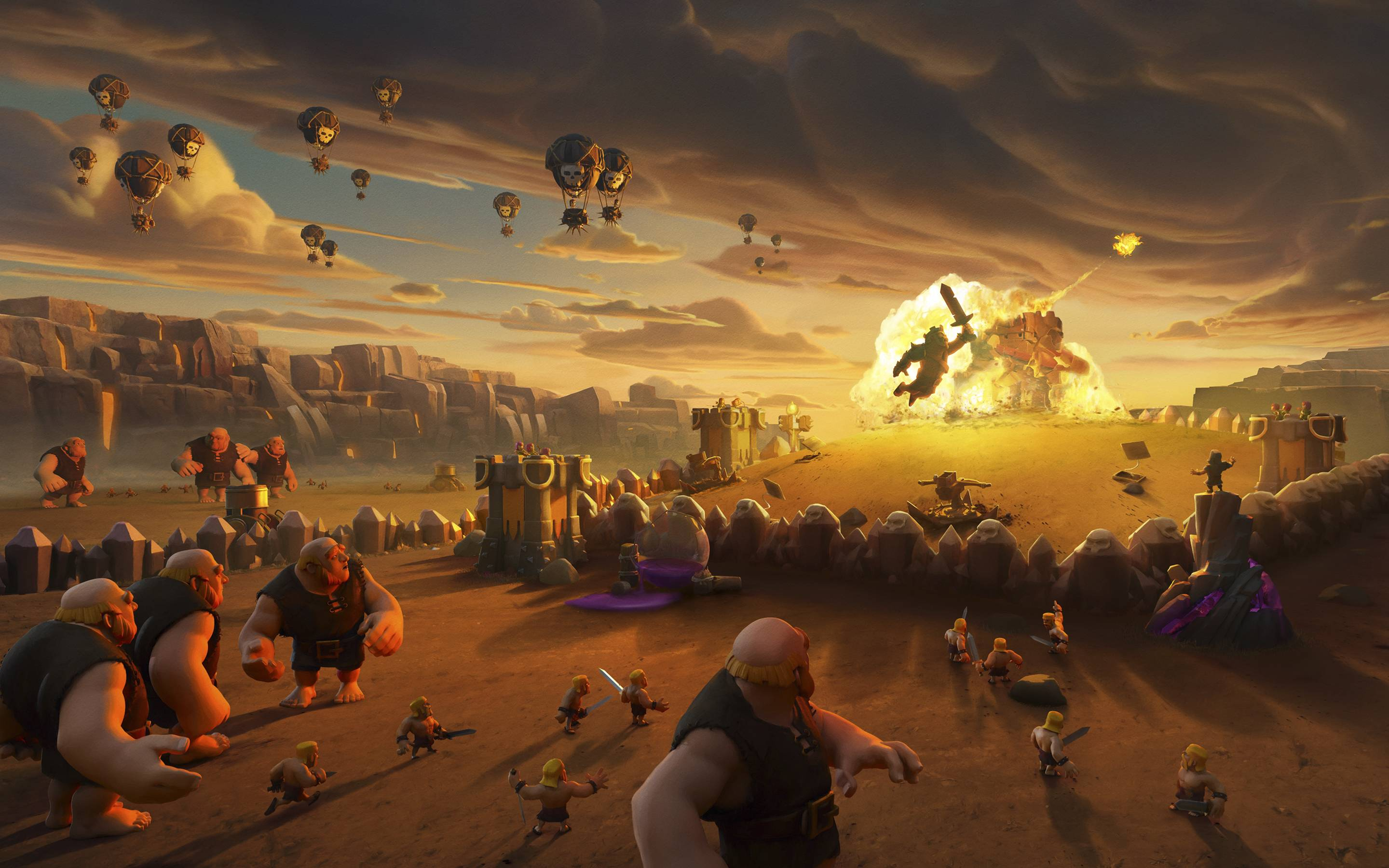 clash of clans game widescreen wallpaper 71