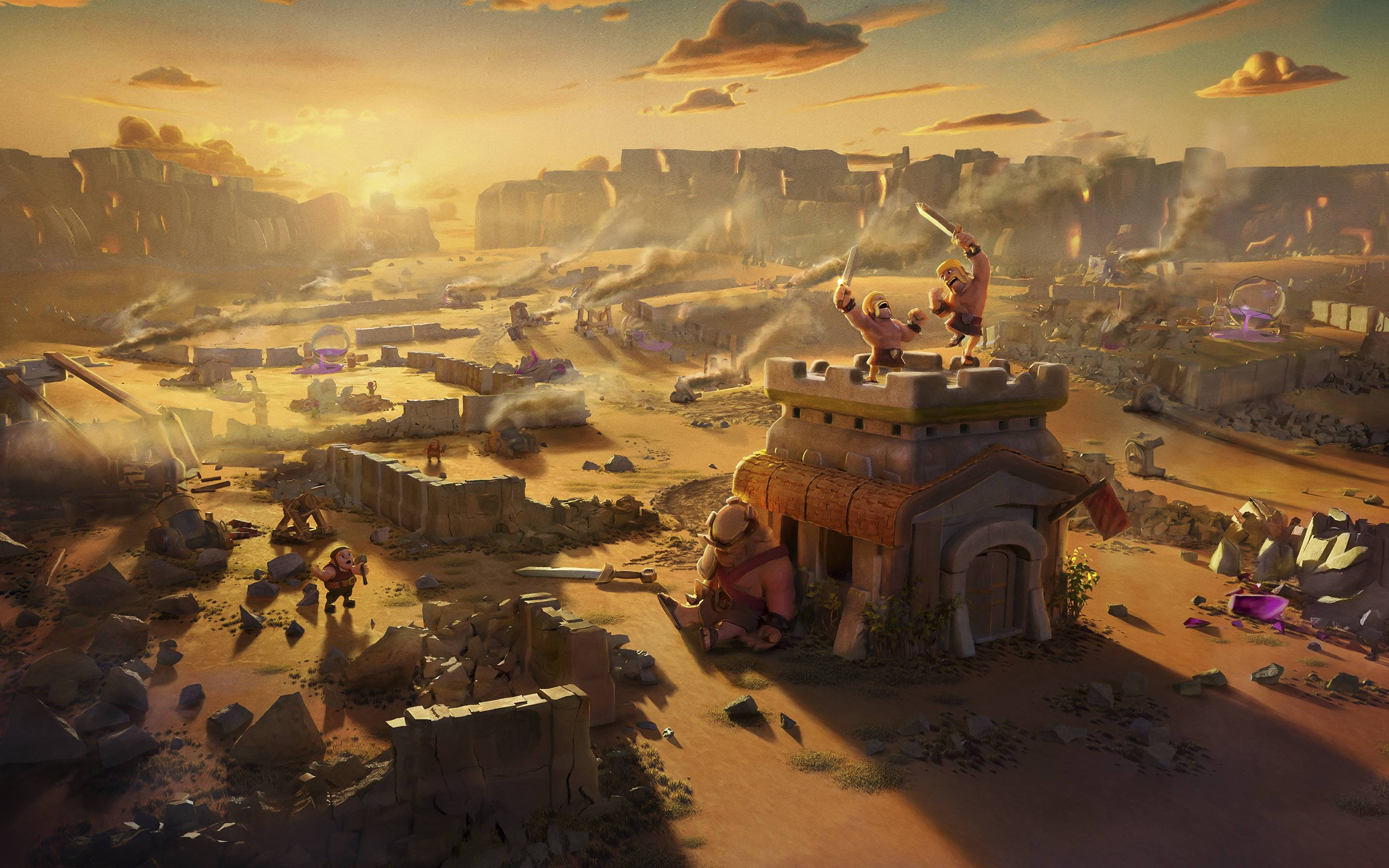 clash of clans video game wide hd wallpaper 73
