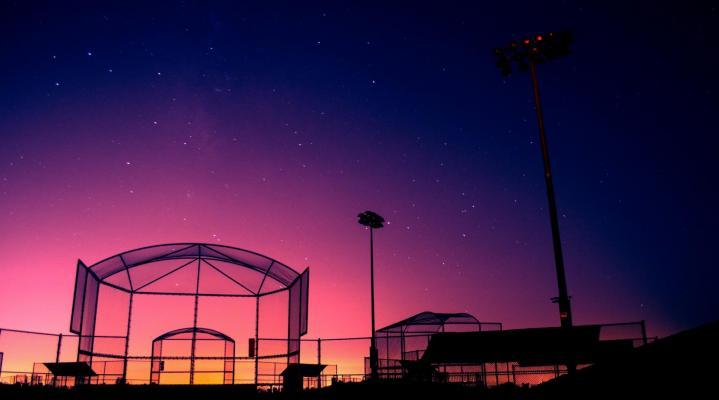 Baseball Field Beautiful Sunset Wallpaper 64
