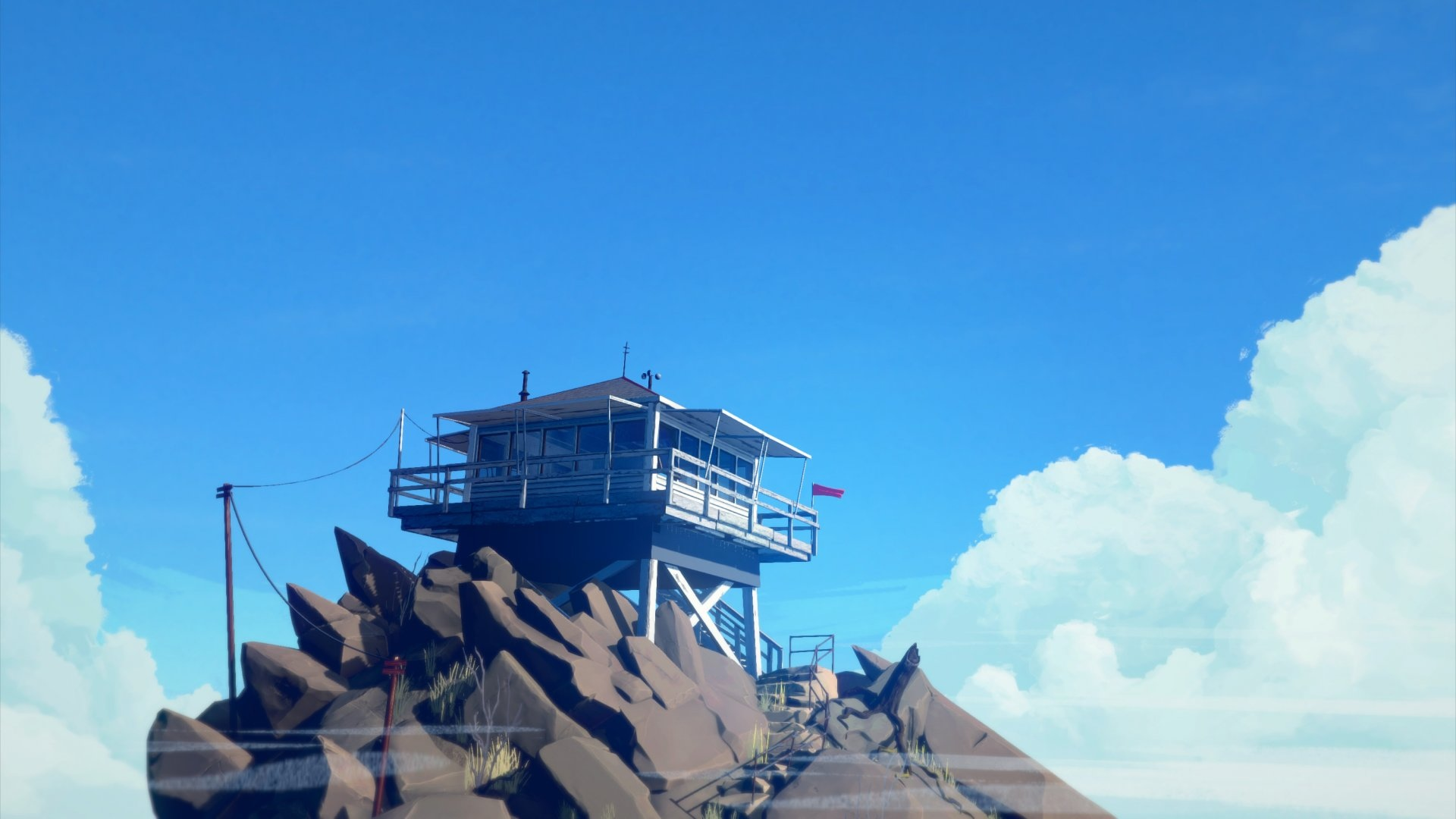 firewatch blue sky widescreen desktop wallpaper 420