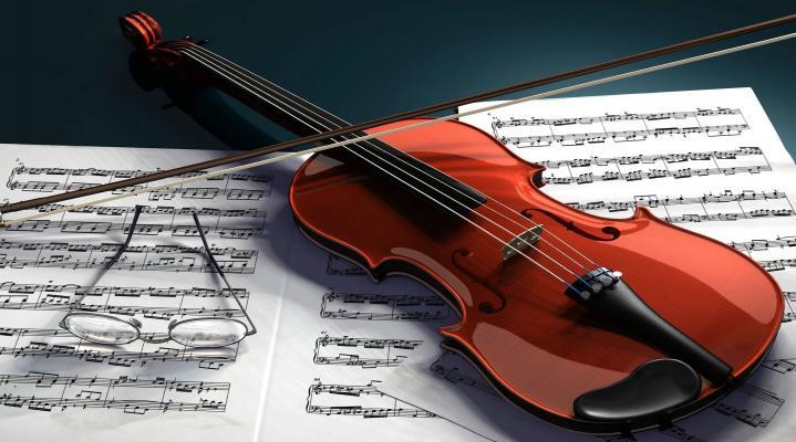 3D Violin Wallpaper 386
