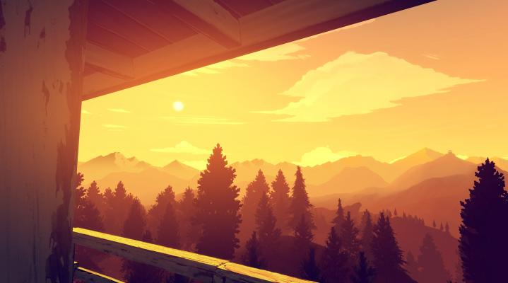 Firewatch Sunset 4K Widescreen Wallpaper 410