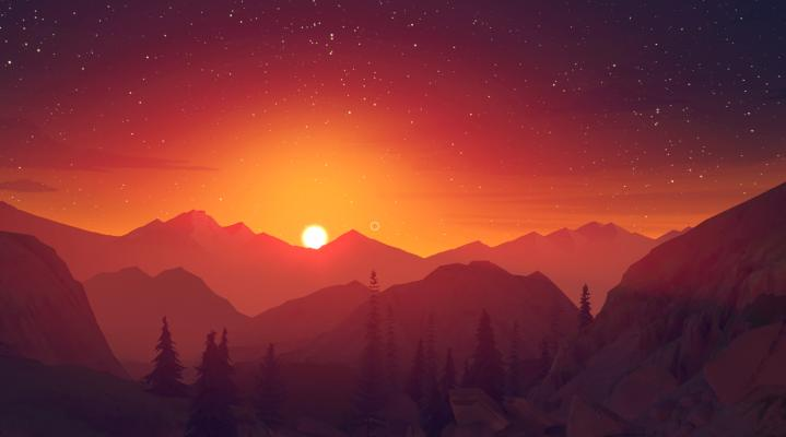 Firewatch Sunset Wallpaper 408