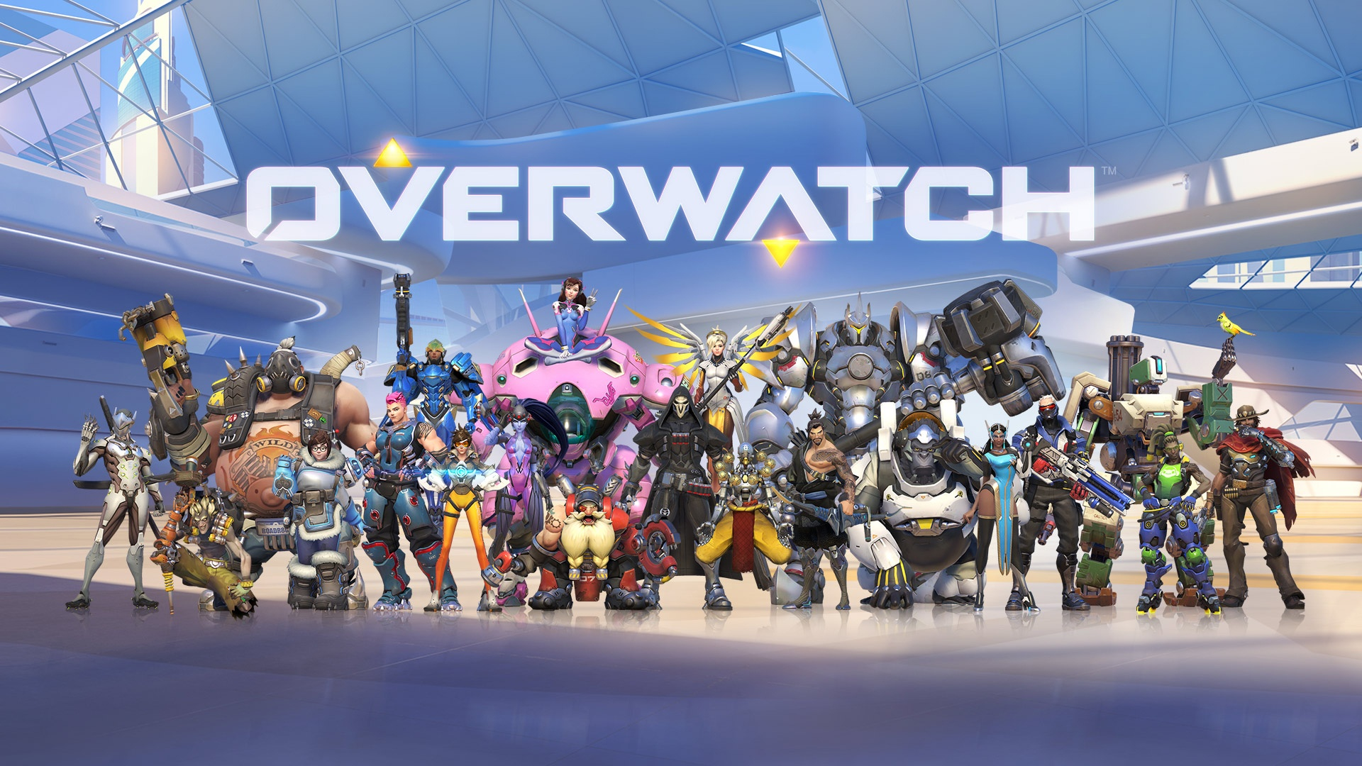 overwatch characters widescreen desktop wallpaper 1250