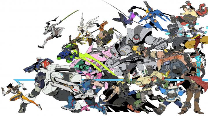 Overwatch Cartoon Widescreen Computer Background 1245