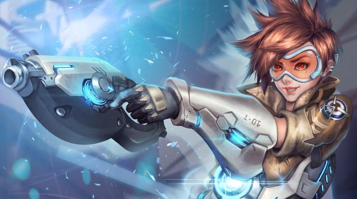Overwatch Tracer Widescreen Desktop Wallpaper 1254