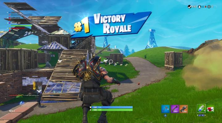 Fortnite Victory Royale P90 Gun Widescreen Desktop Wallpaper 1534