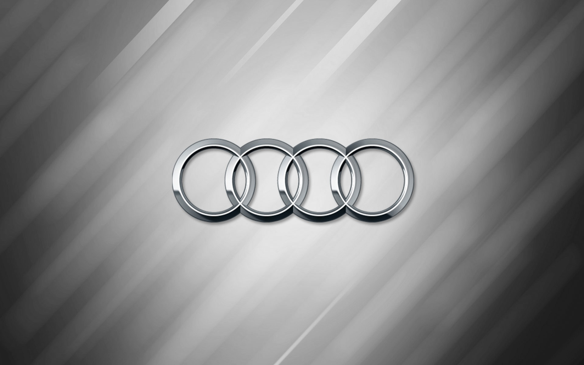 audi logo silver widescreen computer background 1075
