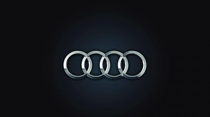 Audi Logo Black Widescreen Desktop Wallpaper 1073