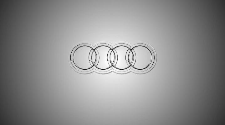 Audi Logo Black Widescreen Desktop Wallpaper 1074
