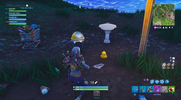 Fortnite Rubber Duck Widescreen Computer Wallpaper 801