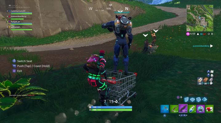 Fortnite Shopping Cart Desktop Wallpaper 782