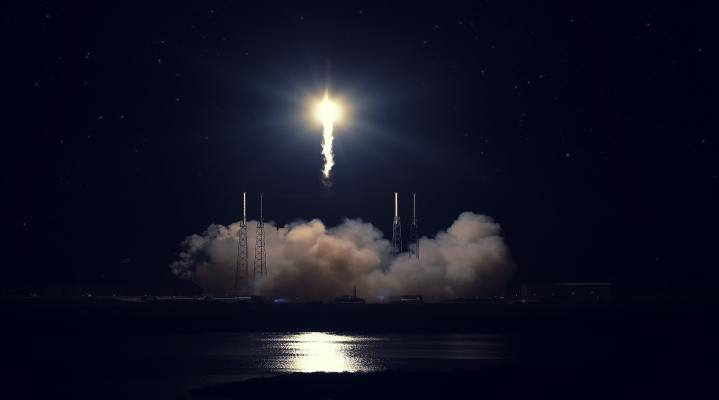 SpaceX Rocket Night Take Off 262