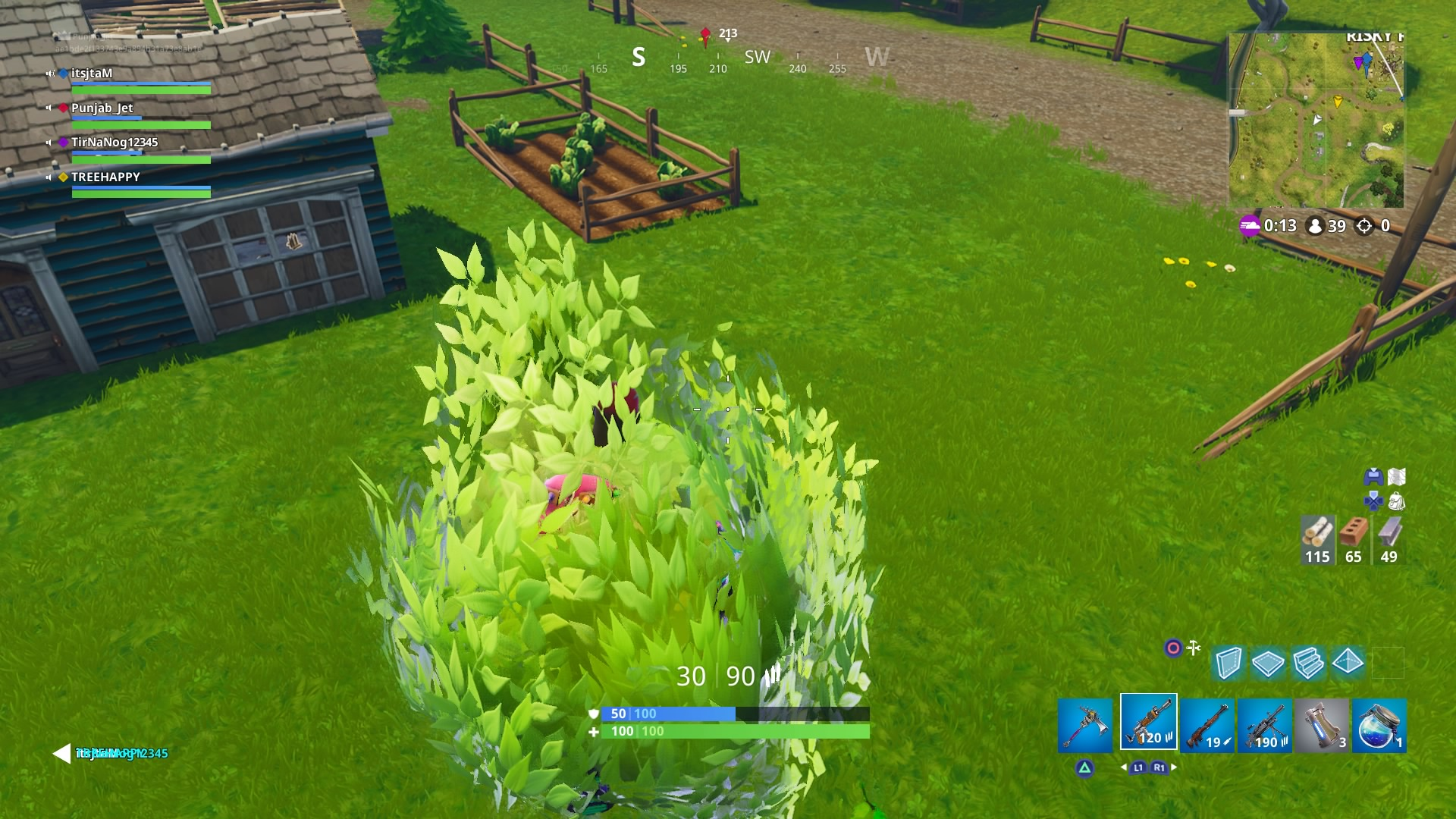 fortnite flying bush desktop wallpaper 1460