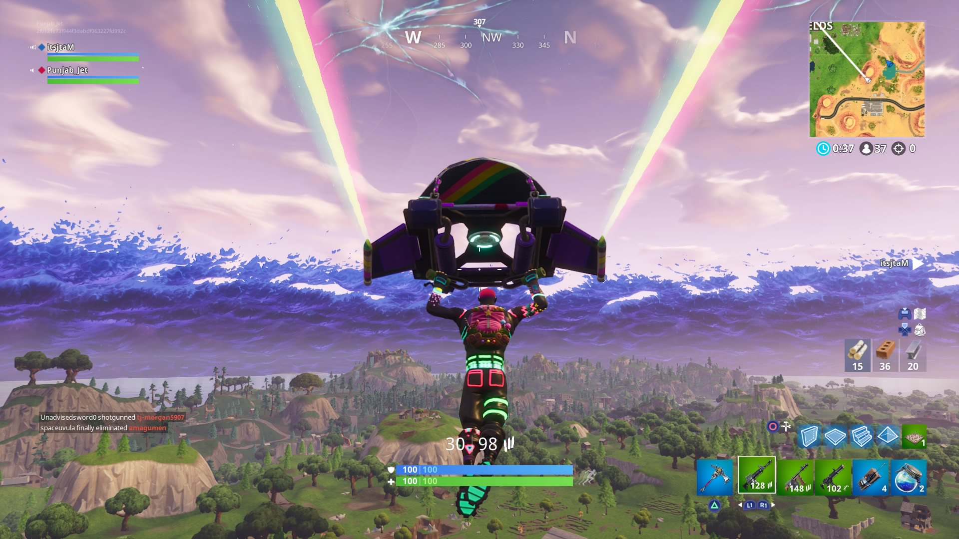 fortnite liteshow skin launch pad widescreen desktop wallpaper 1498