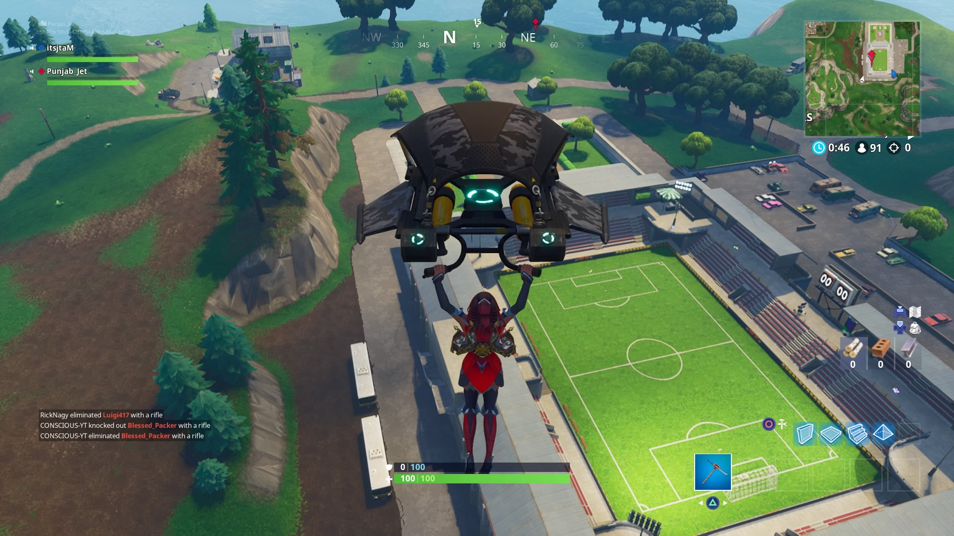 fortnite soccer stadium widescreen computer background 1466