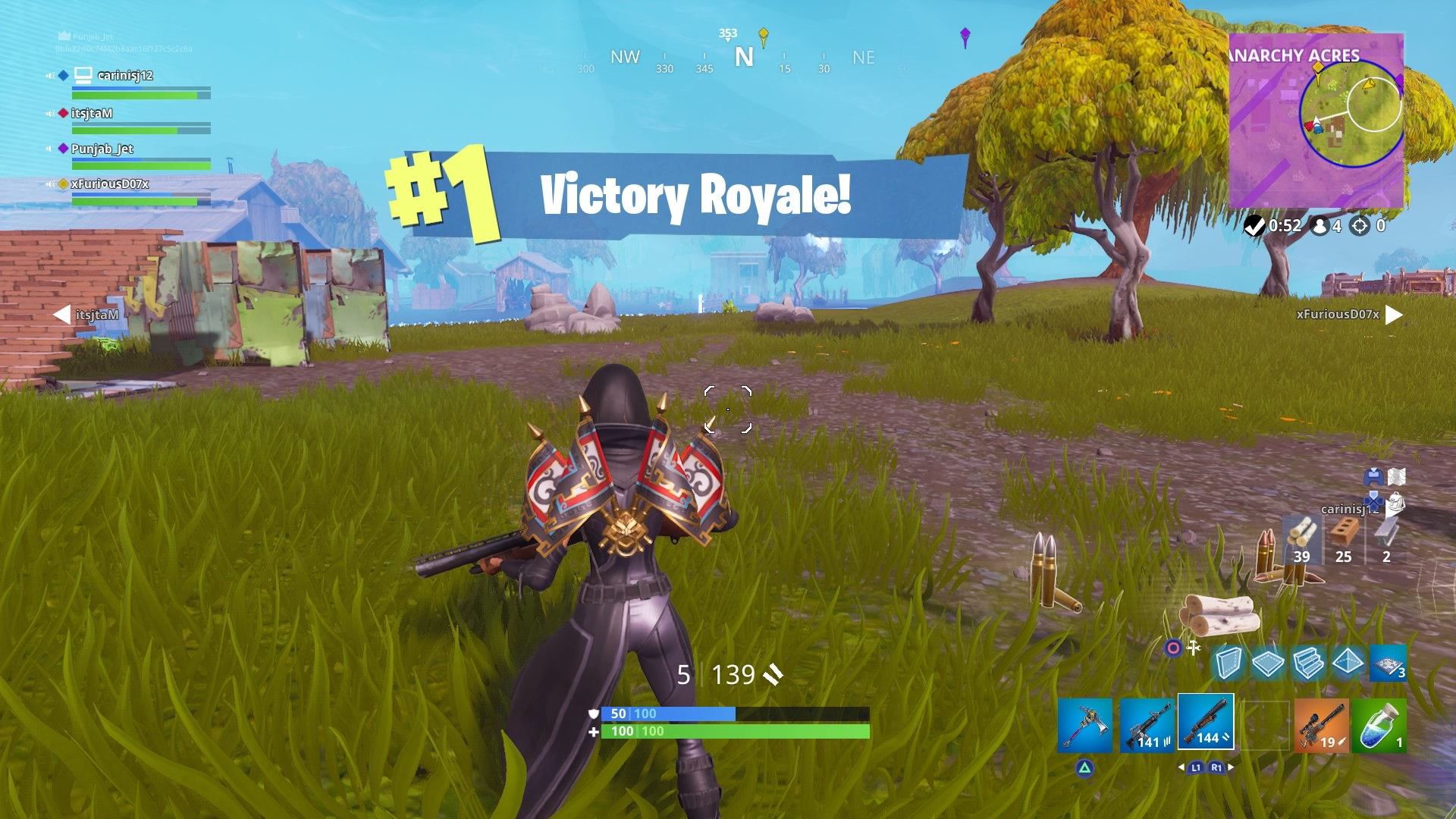 fortnite victory royale widescreen desktop wallpaper 1484