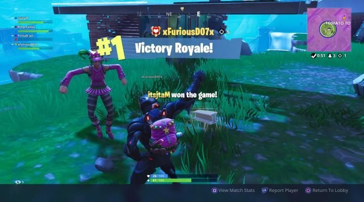 Fortnite Victory Royale Dance Widescreen Desktop Wallpaper 1473