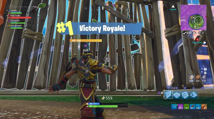 Fortnite Victory Royale Widescreen Desktop Wallpaper 1479