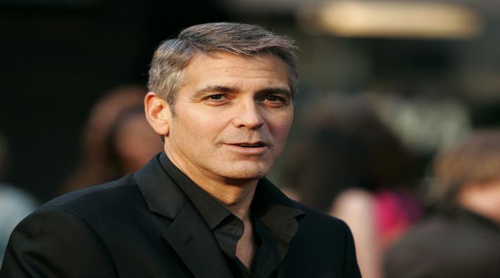 George Clooney Black Suit Wallpaper 617