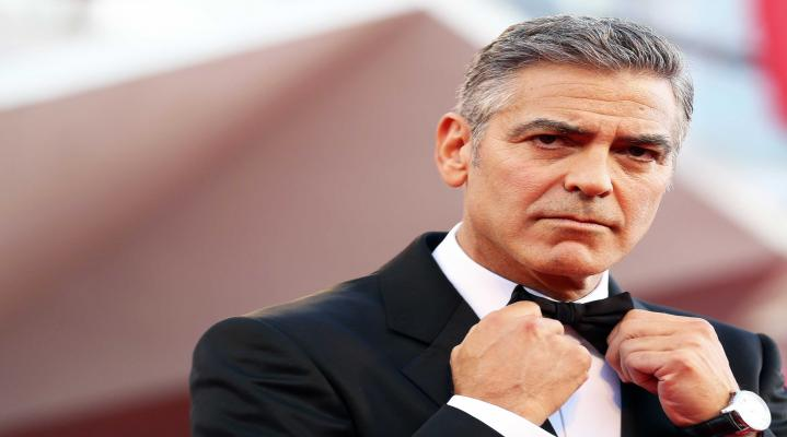 George Clooney Fierce Wide Wallpaper 603