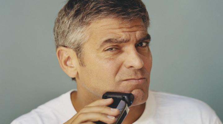 George Clooney Shaving Wallpaper 616