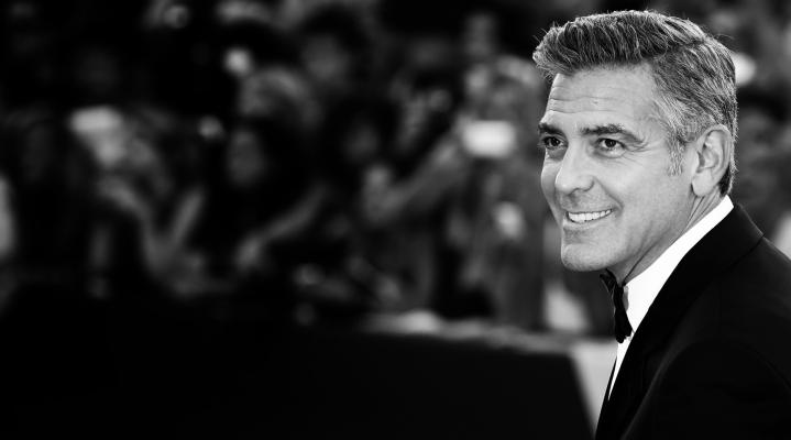 Monochrome George Clooney Smile HD Wallpaper 618