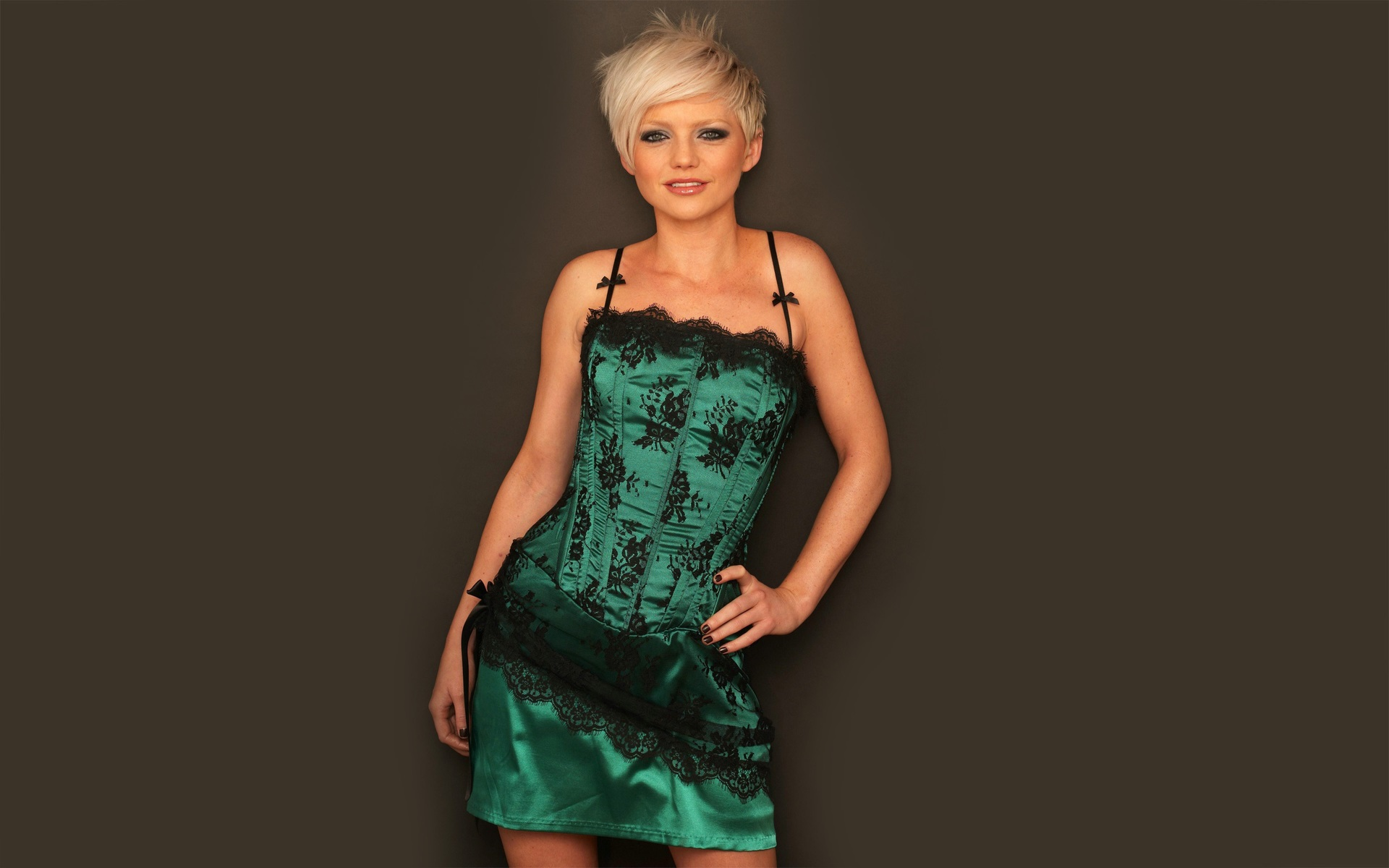 hannah spearritt teal dress wallpaper 645