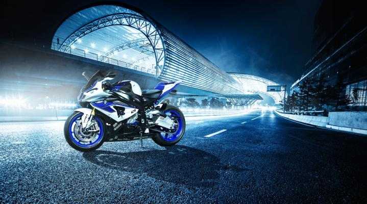 BMW HP4 Night Blue Computer Wallpaper 1011