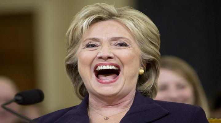 Hillary Clinton Evil Laugh Desktop Wallpaper 1022